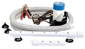 Seachoice 19481 12V Aeration and Pump System - Includes 5 Feet of Flexible Hose - 360 GPH ()