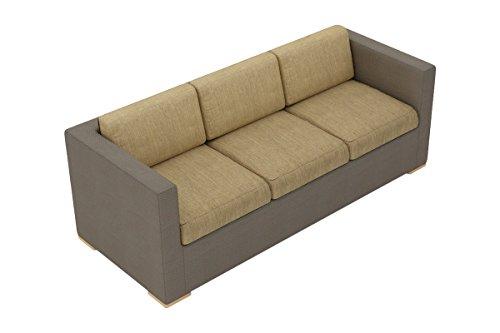 Harmonia Living HL-ELE-TP-S-HB Element Sling Sofa with Heather Beige Cushions