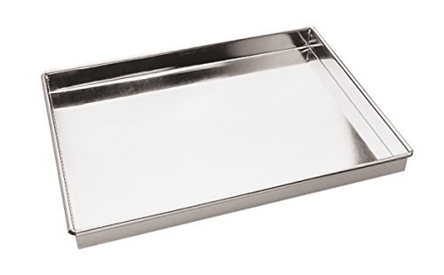 Paderno World Cuisine A4982292 Straight Sides Stainless Steel Baking Sheet, Gray by Paderno World Cuisine