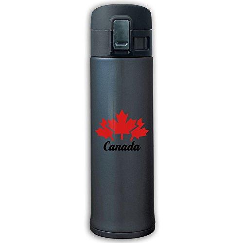 Maple Toronto Travel Leafs Mug (Cupcari Stainless Steel Mug Canada Leafs Design Vacuum Cup, 16-Ounce, Navy)