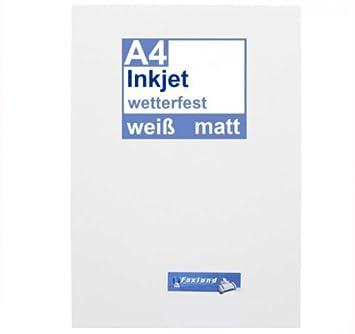 Inkjet Klebefolie 10 X Din A4 Weiss Matt Druckerfolie Klebend Zum