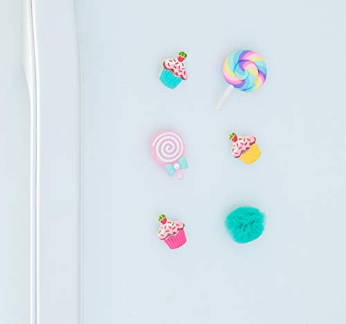 Decorative Fridge Magnet Set - 6 Magnets - Cake Lollipop