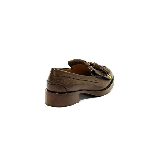 Marrone B9696 Bruciato Mocassino Frangia Nappine Woman Shoe Loafer Scarpa Donna Car xPaX54wfn