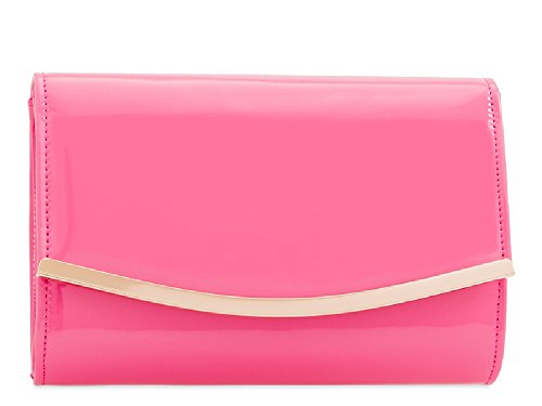 Ladies Handbag Faux Purse Envelope Party Women's Patent Clutch Kh2216 Bag Evening Navy Leather wwqSzdrv