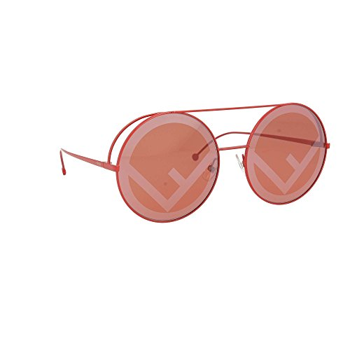 ... Fendi piste ronde lunettes de soleil en rouge FF 0285 S C9A 63 Red Red 59abe1f9aef1