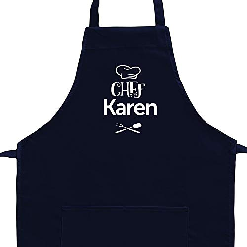 Eddany Chef Karen barbecue utensils Embroidery Custom Aprons Adult or Kid