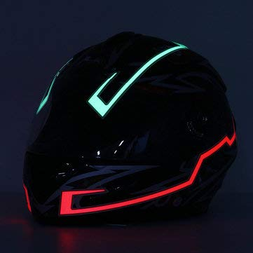 (Motorcycle Helmet Strip LED Night Signal Luminous Stripe Fashion Modified Glowing Bars - Motorcycle Motorcycle Helmet -)