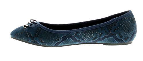 Wynsors Rea Mujer Planos Azul Marino Serpiente - Azul Marino Serpiente - GB Tallas 3-8