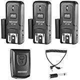 (Neewer 16 Channels Wireless Radio Flash Speedlite Studio Trigger Set, Including (1) Transmitter and (3) Receivers, Fit for Canon Nikon Pentax Olympus Panasonic DSLR Cameras (CT-16))