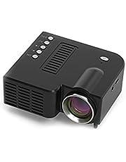 Mini Beamer, FHD 1080P Pro, videolampor för kamera LED-projektor, bärbar filmprojektor med AV USB TF-gränssnitt för barngåva/hemmabio, kompatibel med smartphone/laptop/PS4/XBOX