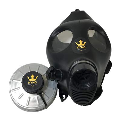 Israeli Style Rubber Respirator Mask NBC Protection w/Premium Aluminum Mask 40mm FILTER canister For Industrial Use Chemical Handling Painting, Welding, Prepping, Emergency Preparedness KYNG TACTICAL by Kyng Tactical (Image #1)