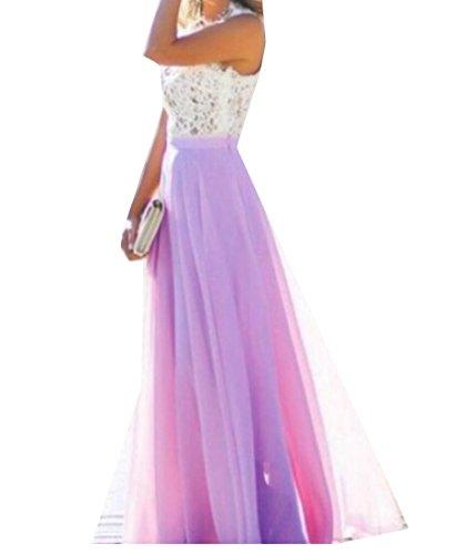 Formal Gown Vintage Dress Bridesmaid Chiffon Wedding 1 Lace Jaycargogo Party Women's Yw7wI