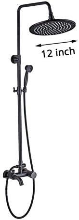BZM-ZM ブロンズ黒い雨の蛇口シャワーミキサーセットプラスチックコンビニトレイスイベルタブスパウトハンドシャワー