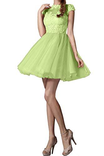 Rosa Gruen La Kurzarm Hell Mini Braut Tanzenkleider Marie Spitze Kurz Cocktailkleider Abendkleider Promkleider Lemon ErEORqTW