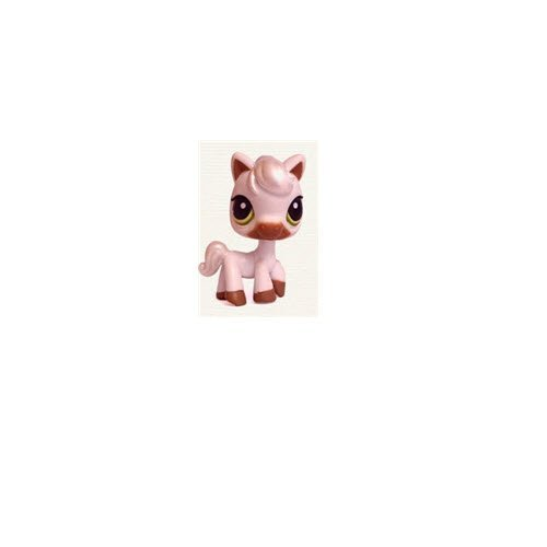 (Littlest Pet Shop Horse Pony # 338 (White with Brown Hooves, Standing with Green Eyes) - LPS Loose Figures - Replacement Pets - LPS Collector Toy (Out of Package/OOP))
