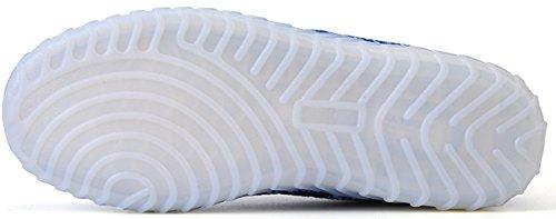 Joansam 7 Colors LED Luminous Unisex Sneakers Men & Women USB Charging Light colorful Glowing Leisure Shoes Sprot Shoes White iePsjF