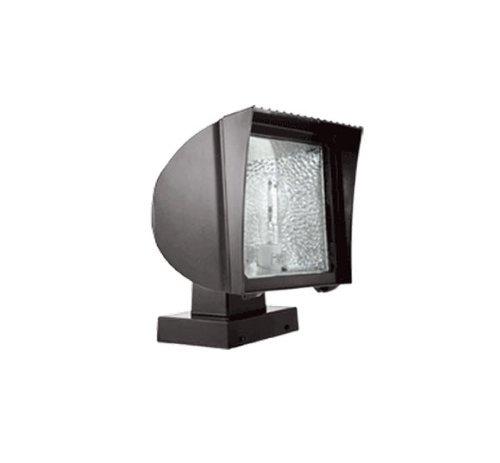 RAB Lighting FXF84XQT/PC Compact Fluorescent Flex Floodlight with Fixed Wall Mount, Triple 84W Type, Aluminum, 84W Power, 6400 Lumens, 120V Button Photocell, Bronze - Flex Mount Wall Flood