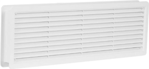 Door Air Vent Grille 400x130mm (16x5.1inch)Two Sided 'WHITE' Ventilation Cover High Quality ASA Plastic Access Panels UK 8590229000612