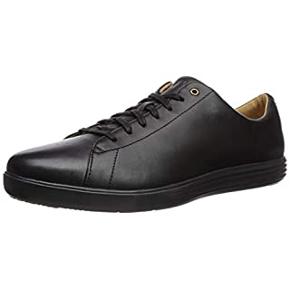 Cole Haan Men's Grand Crosscourt II Sneaker, black leather/black, 8 Medium US
