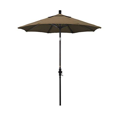 California Umbrella  Round Aluminum Pole Fiberglass Rib Market Umbrella, Crank Lift, Collar Tilt