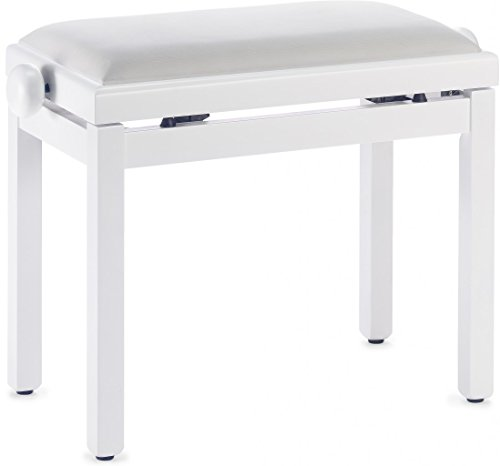 Stagg PB39 WHM VWH Banco del piano con asiento, color bla