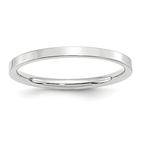 10KW 2mm Standard Flat Comfort Fit Band Size 9 by JewelrySuperMart Collection