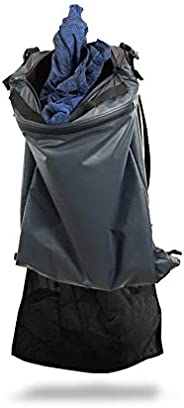 FunkBags - Wash bags for fitness, healthcare, travel, and sports dirty laundry. Made in the USA. (Grey/Black,