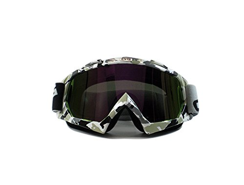 CRG Sports Motocross ATV Dirt Bike Off Road Racing Goggles ORANGE T815-7-6 T815-7-6 - Parent (Multi-Color lens camouflage frame)