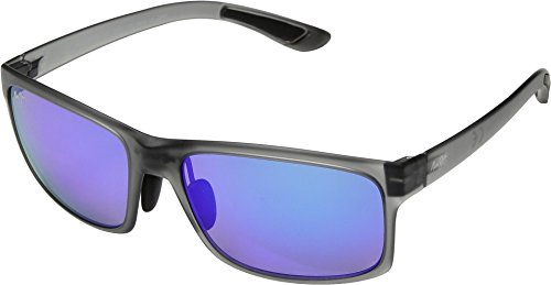 Maui Jim Unisex Pokowai Arch Translucent Matte Grey/Blue Hawaii One - Styles Jim New Maui