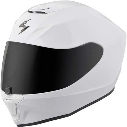Scorpion EXO-R420 Full-Face Solid Street Motorcycle Helmet - White/Large ()