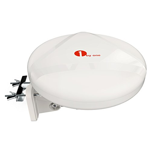 1byone Amplified Outdoor Antenna with Omni-Directional 360