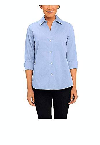 Foxcroft Women's Essential Non-Iron Blouse (Small, Blue ()