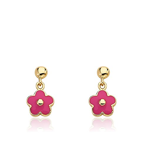 Little Miss Twin Stars 14k Gold Plated Small Dangling Earring