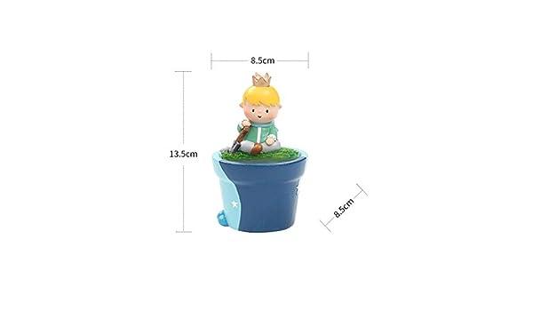 SLH - Maceta con diseño de príncipe caricatura: Amazon.es: Jardín