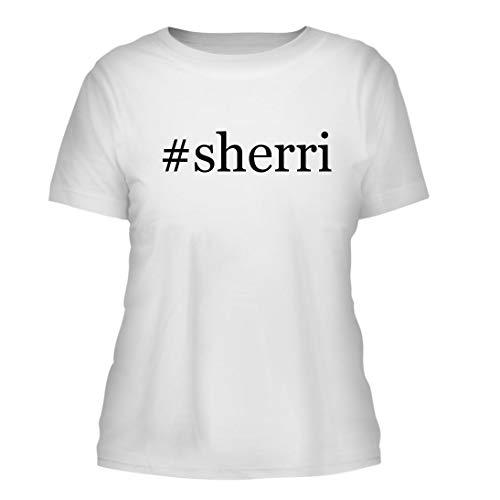 - #Sherri - A Nice Hashtag Misses Cut Women's Short Sleeve T-Shirt, White, Large