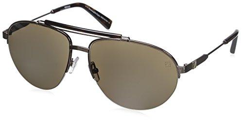 Ermenegildo Zegna Men's EZ0007 Sunglasses, Shiny Light - Zegna Sunglasses