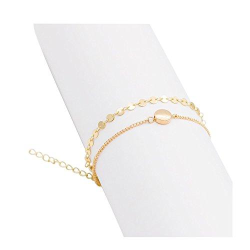 Zealmer Delicate Layered Bracelet Curved