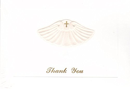 Baptism Thank You Cards - Embossed Design on 3-1/2