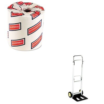 Hideaway Hand Truck (KITBWK6180SAF4061 - Value Kit - Safco Hide-Away Aluminum Hand Truck (SAF4061) and White 2-Ply Toilet Tissue, 4.5quot; x 3quot; Sheet Size (BWK6180))