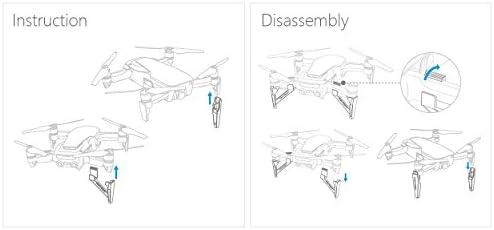 PENIVO 4pcs Ensemble de Jambe de Train d'atterrissage, Intensifier Le Protecteur prolongé de Train d'atterrissage pour DJI Mavic Air Drone Accessoires