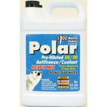 Warren Distribution Polar Pre Diluted 50/50 Antifreeze/Coolant, 1 Gallon -- 6 per case by Warren