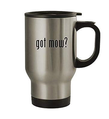 got mow? - 14oz Sturdy Stainless Steel Travel Mug