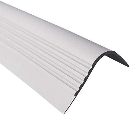 GAH-Alberts Profil/é descalier antid/érapant en caoutchouc PVC pour escalier 1,5 m 48 x 42 mm