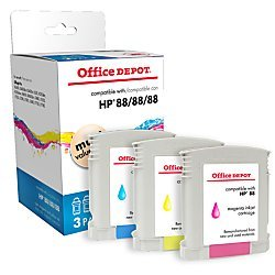Office Depot Compatible Ink Cartridge Replacement for HP 3910 ( Tri Color , 3-Pack (Office Depot Hp Ink)