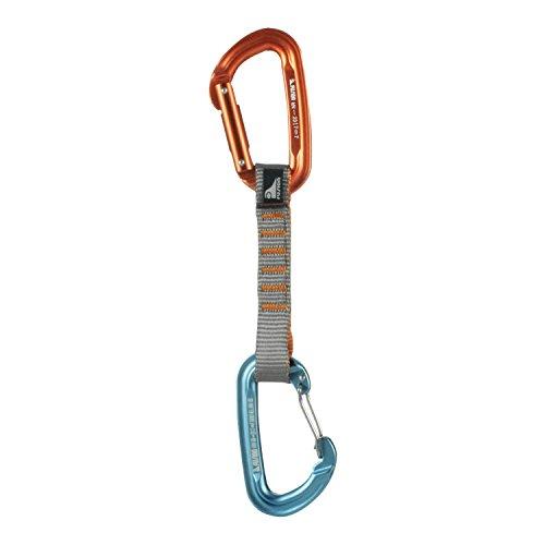 Fusion Climb 11cm Quickdraw with Contigua Blue Wire Gate Carabiner/Contigue Orange Straight Gate Carabiner by Fusion Climb