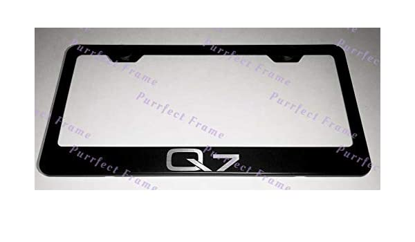 2X Audi Q7 Stainless Steel License Plate Frame Rust Free W// Bolt Caps