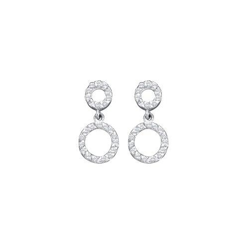 Dazzlingrock Collection 0.25 Carat 14K Diamond Circle Earrings, White ()