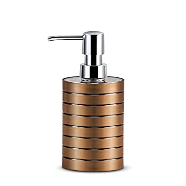 Freelance Miami Polystyrene Soap Dispenser, Shower Lotion, Gel, Conditioner, Liquid Shampoo Pump, Copper 4