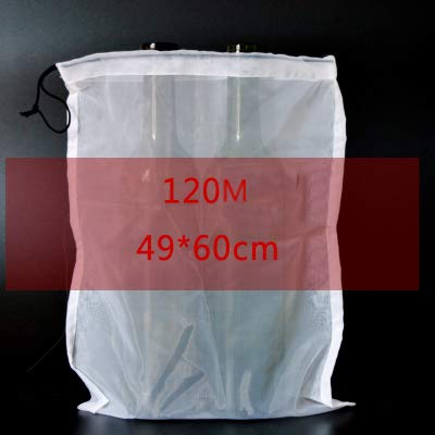 Wine Filter Bag Food Grade 120/200/300 Mesh Bag for Home Brewing Wine Making : 120 M Medium