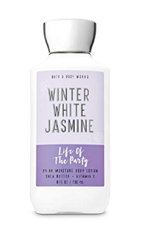 Bath and Body Works Life of the Party Winter White Jasmine Body Lotion 8 oz